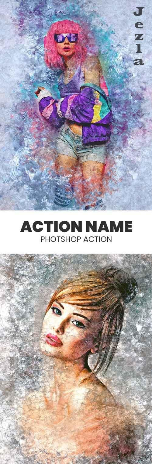 GraphicRiver - Grunge Ice PHSP Action 29846975