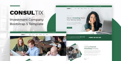 ThemeForest - Consultix v1.0 - Investment Company Bootstrap 5 Template - 30075368