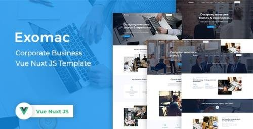 ThemeForest - Exomac v1.0 - Corporate Business Vue Nuxt JS Template - 30078261