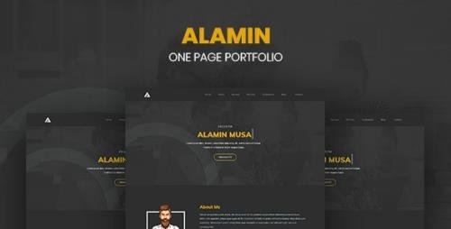 ThemeForest - Alamin v1.0 - One Page Portfolio - 22499585