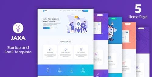 ThemeForest - Jaxa v1.0 - Startup and SaaS Template - 22959748