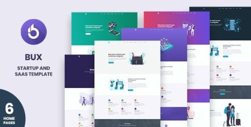 ThemeForest - Bux v1.0 - Startup and SaaS Template - 23215195