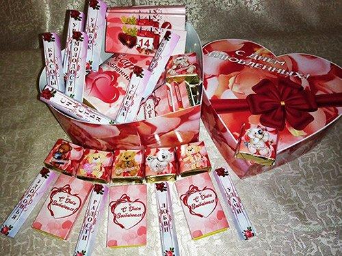 Шокобокс в подарок на День Влюбленных - Большое сердце