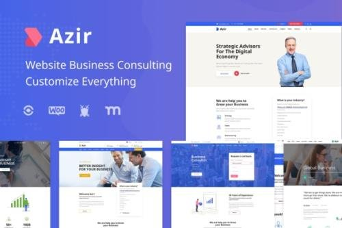 ThemeForest - Azir v1.0.2 - Finance Consulting Elementor Template Kit - 30052205