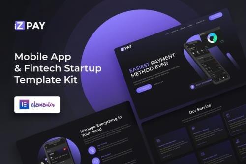 ThemeForest - iZPAY v1.0.0 - Mobile App and Fintech Startup Elementor Template Kit - 30074905