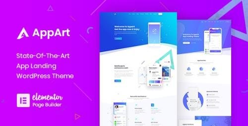 ThemeForest - AppArt v2.8 - Creative WordPress Theme For Apps, Saas & Software - 21915180