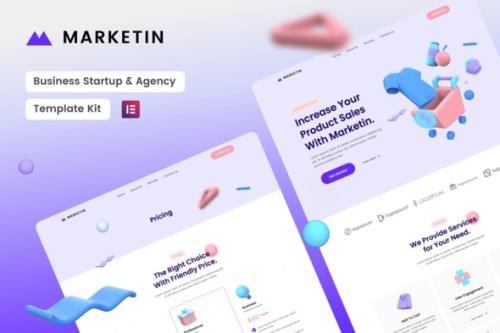 ThemeForest - Marketin v1.0.0 - Business Startup & Agency Elementor Template Kit - 30093174