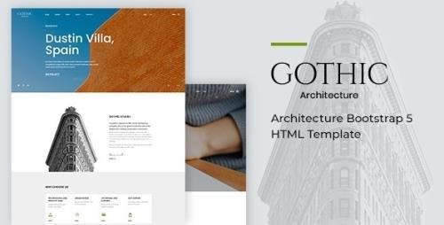 ThemeForest - Gothic v1.0 - Architecture Bootstrap 5 HTML Template - 30124612