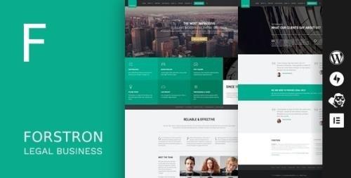 ThemeForest - Forstron v1.9.5 - Legal Business WordPress Theme - 10935963