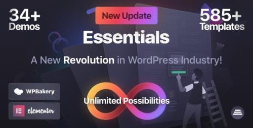 ThemeForest - Essentials v1.2.3 - Multipurpose WordPress Theme - 27889640 -