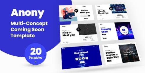 ThemeForest - Anony v1.0 - Coming Soon HTML5 Template - 26370898