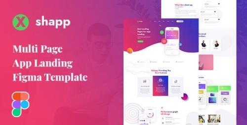 ThemeForest - Xshapp v1.0 - Multipage App Landing Figma Template - 29925243