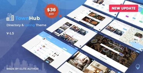 ThemeForest - TownHub v1.5.2 - Directory & Listing WordPress Theme - 25019571