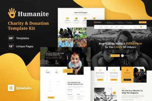 ThemeForest - Humanite v1.0.0 - Charity & Donation Elementor Template Kit - 30180364