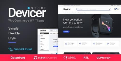 ThemeForest - Devicer v1.0.9 - Electronics, Mobile & Tech Store - 21162601