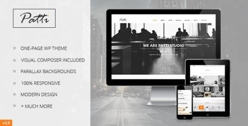 ThemeForest - Patti v3.9.16 - Parallax One Page WordPress Theme - 7068682