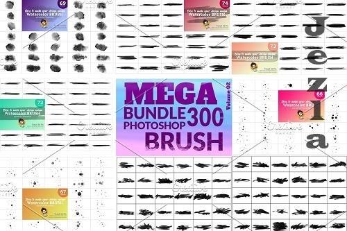 CreativeMarket - Watercolor Brush Bundle 5746823