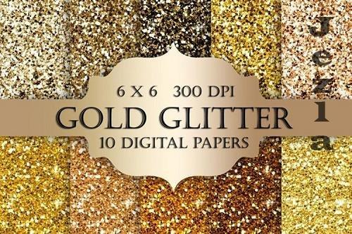 Gold Glitter Digital Paper - 1169618