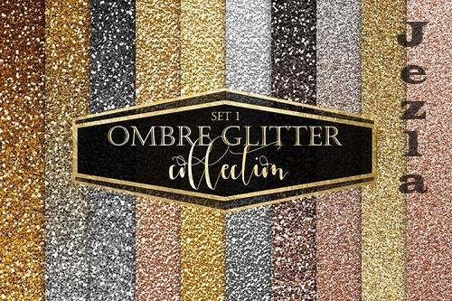 Gold Ombre Glitter Digital Paper - 1169761