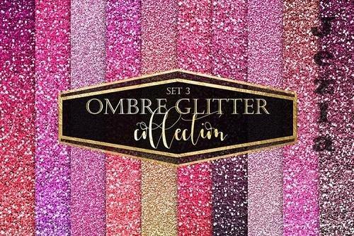 Pink Ombre Glitter Digital Paper - 1169783