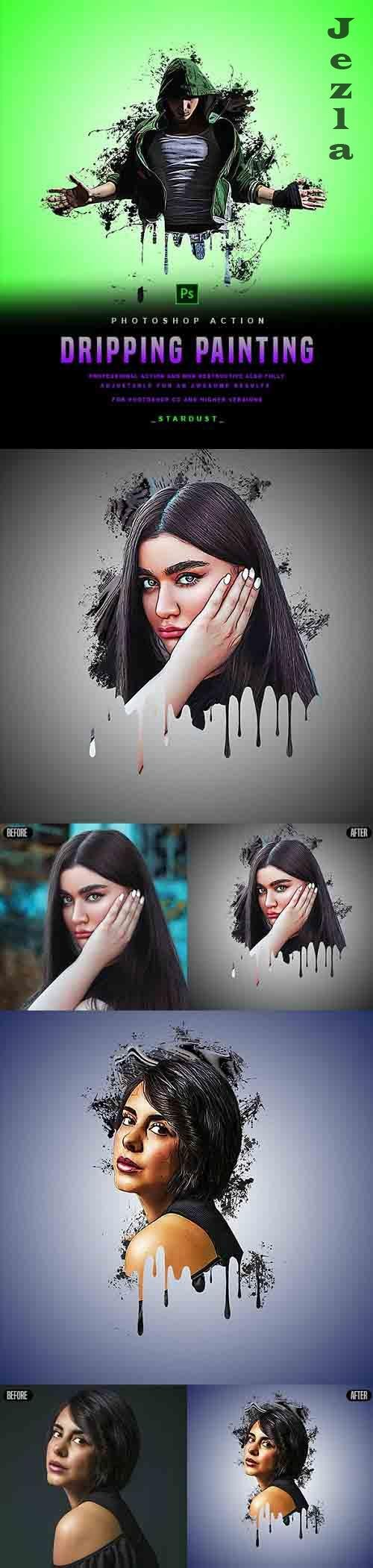GraphicRiver - Dripping Painting - PHSP Action 29878099