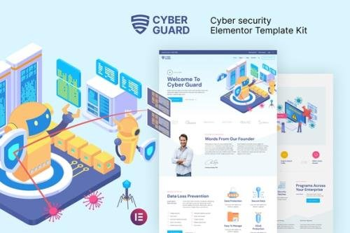 ThemeForest - Cyberguard v1.0.0 - Cyber Security Elementor Template Kit - 30147940