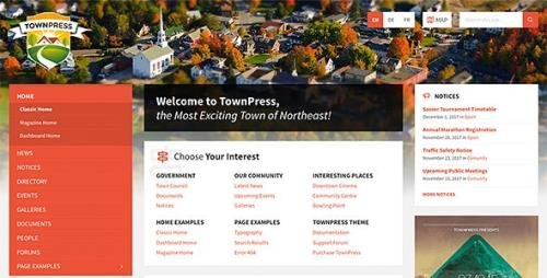 ThemeForest - TownPress v3.6.5 - Municipality WordPress Theme - 11490395