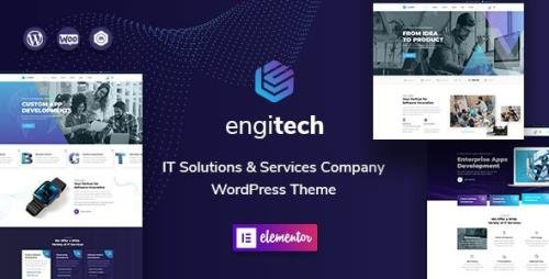 ThemeForest - Engitech v1.2 - IT Solutions & Services WordPress Theme (Update: 26 January 21) - 25892002