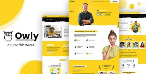 ThemeForest - Owly v2.2 - Tutoring & eLearning WP Theme - 23394631
