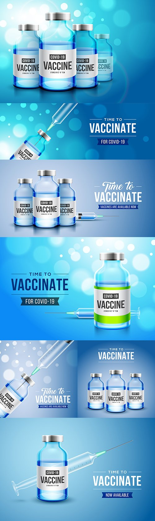 Vaccination against covid-19 coronavirus with realistic 3D bottle