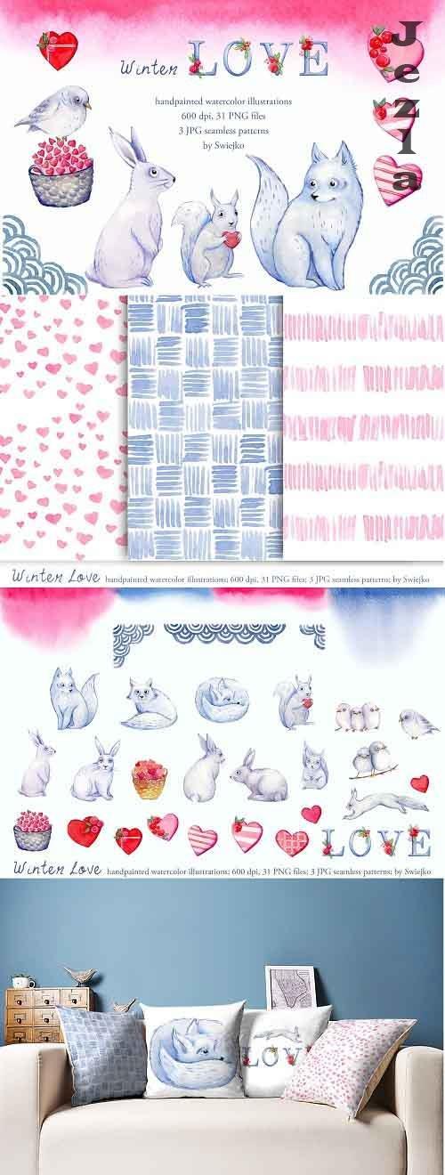 Winter Love, winter illustrations - 5831635