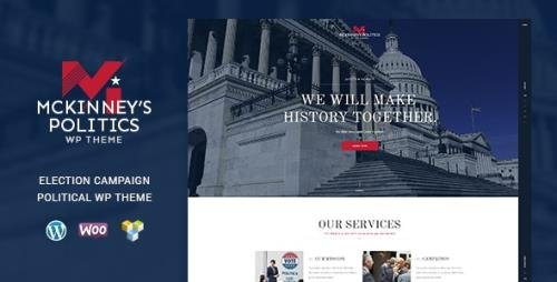 ThemeForest - MCKinney's Politics v1.2.1 - Elections Campaign & Social Activism WordPress Theme - 17456181