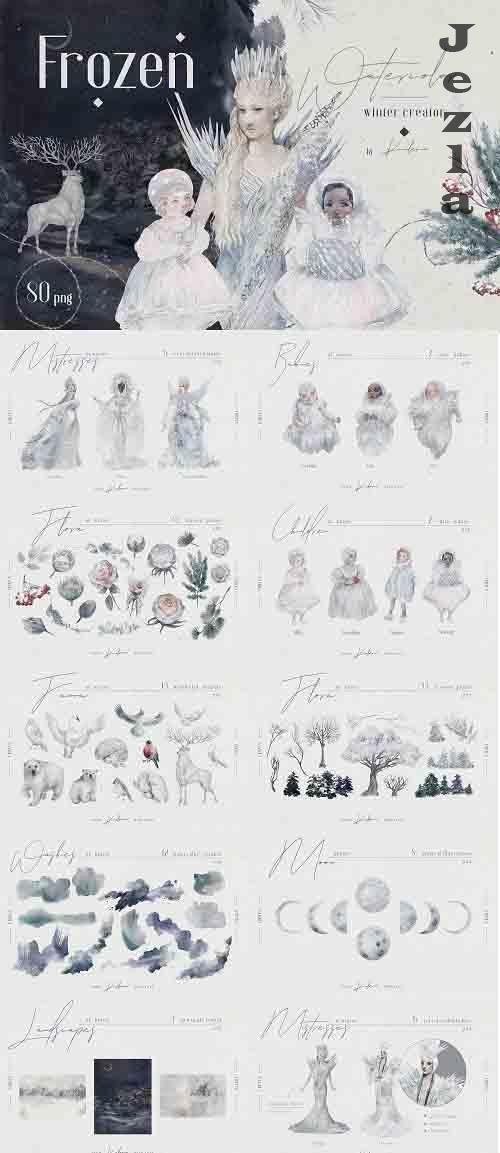 Frozen - winter watercolor creator - 5572898