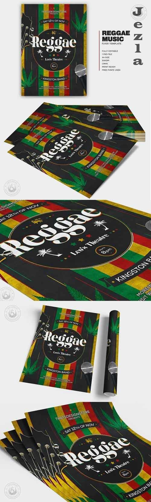 Reggae Music Flyer Template - 5836679