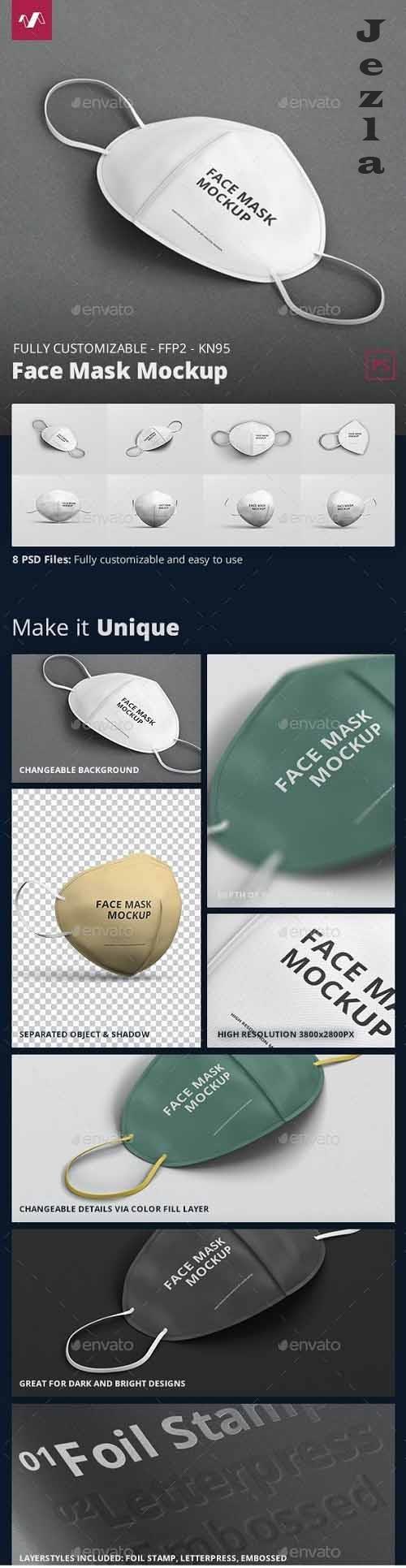 GraphicRiver - Face Mask Mockup - FFP2 KN95 30254871
