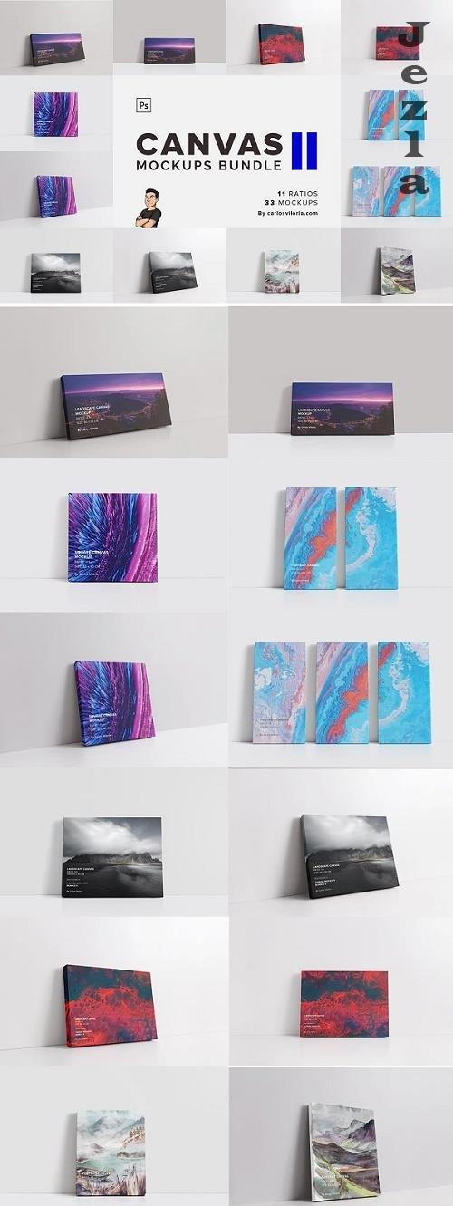 CreativeMarket - Canvas Mockups Bundle 2 5811614