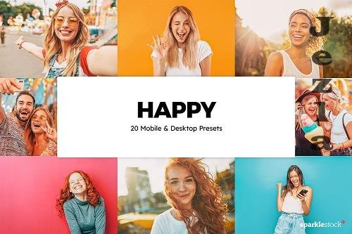 20 Happy LRM Presets & LUTs - 5855812
