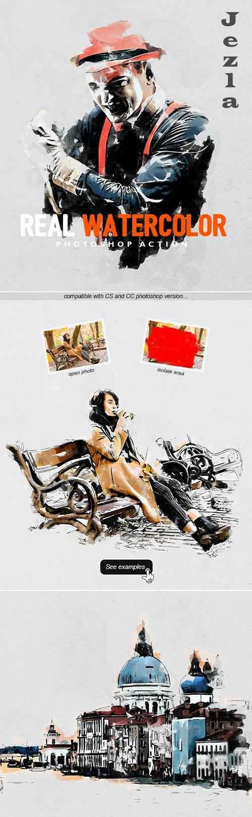 GraphicRiver - Real Watercolor - Photoshop Action 30120950