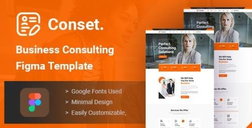 ThemeForest - Conset v1.0 - Business Consulting Figma Template - 28929369