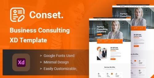 ThemeForest - Conset v1.0 - Business Consulting XD Template - 28929387
