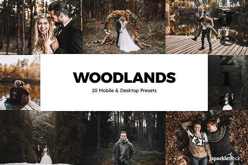 20 Woodlands Lightroom Presets & LUT - 5868160