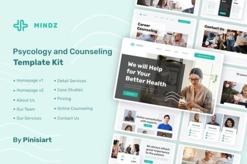 ThemeForest - Mindz v1.0.2 - Psychologist Elementor Template Kit - 30288047