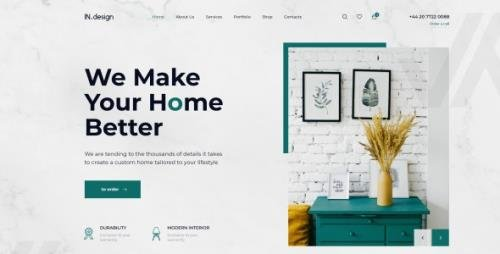ThemeForest - Mint v1.0 - Interior Design HTML Template - 27515892