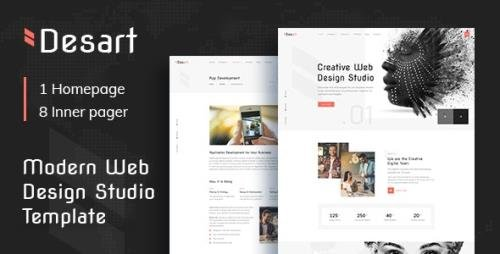 ThemeForest - Desart v1.0 - Creative Web Design Studio HTML Template - 27551195