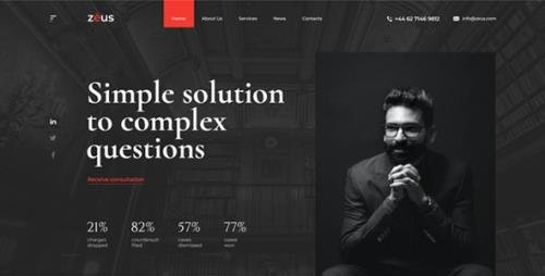ThemeForest - Zeus v1.0 - Lawyers and Law Firm HTML Template - 28006578