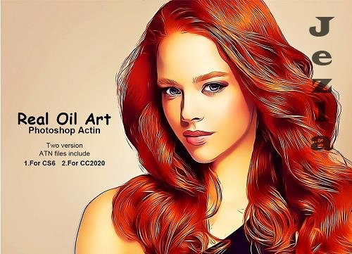CreativeMarket - Real Oil Art Photoshop Action 5222581