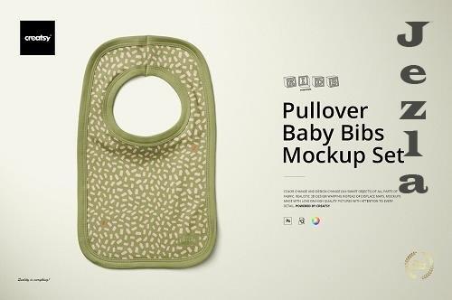 CreativeMarket - Pullover Bibs Mockup Set 4280350