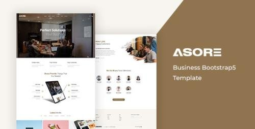 ThemeForest - Asore v1.0 - Business Bootstrap 5 Template - 30180638