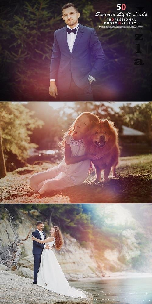 50 Summer Light Leaks Photo Overlays - 992638