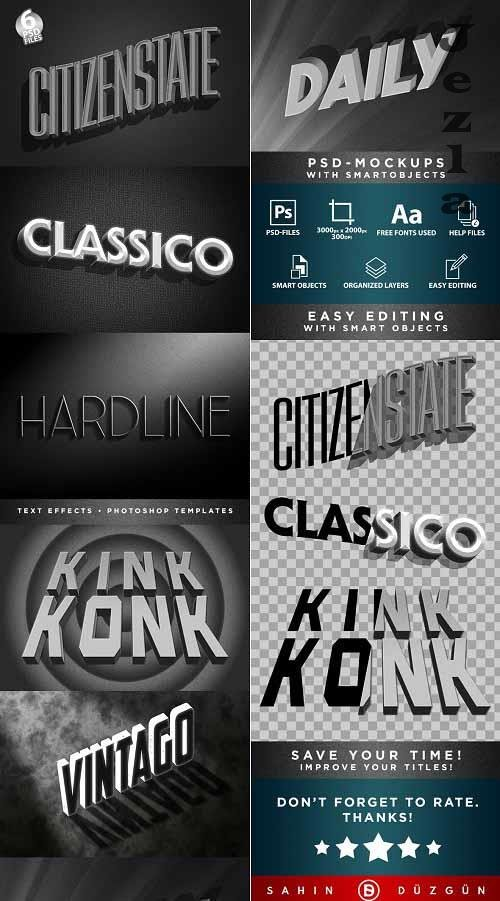 GraphicRiver - Classic Film Title Cards | 3D Text-Effects/Mockups | Template-Package 29828400
